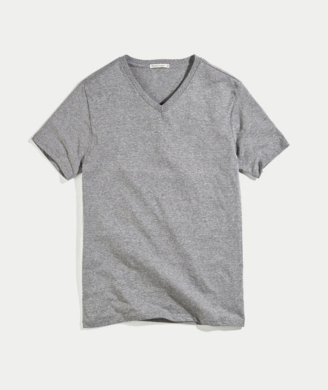 Tri-Blend V-neck - Heather Grey