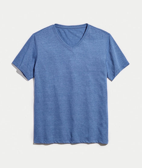 Signature V-neck in True Denim