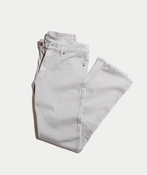 5 Pocket Straight Fit Pant in Light Grey