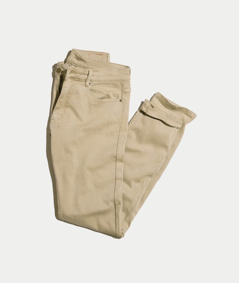 5 Pocket Slim Fit Pant in Light Khaki