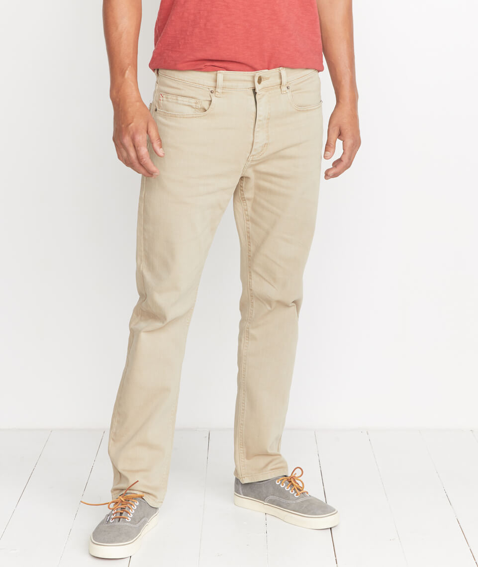 5 Pocket Straight Fit Pant in Light Khaki