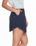 Rayon Dot Skirt - Mood Indigo