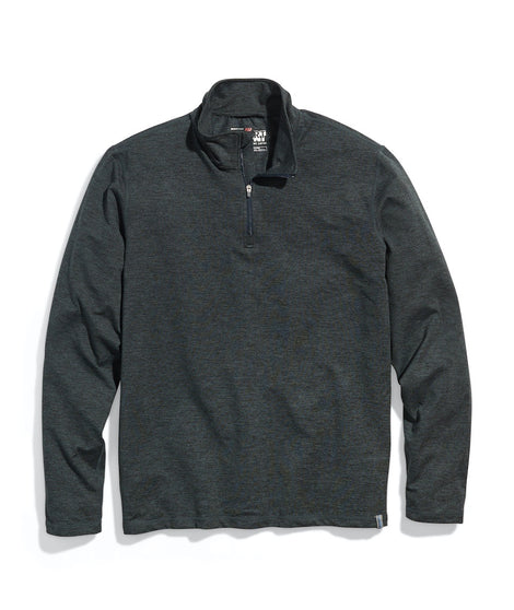 Men's Sport Quarter Zip in Charcoal
