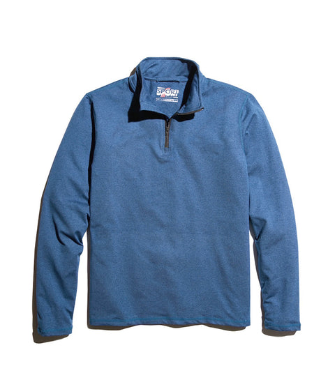 Men's Sport Quarter Zip in Deep Denim