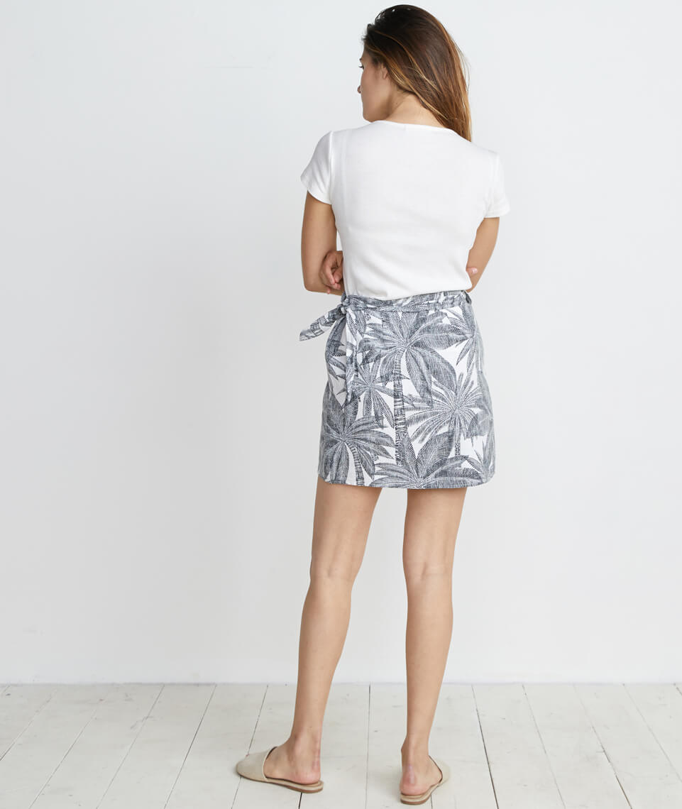 Angelica Wrap Skirt in Geo Palm Print
