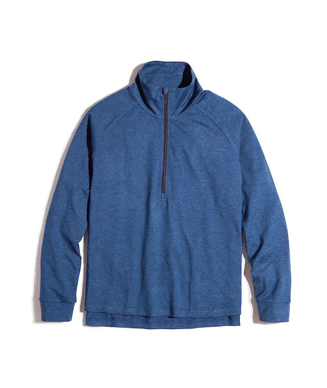 Women's Sport Quarter Zip in Deep Denim
