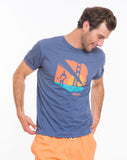 Fort Point Graphic Tee - Mid Blue