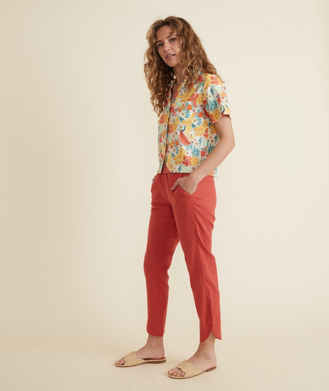 Allison Pant in Cherry Red