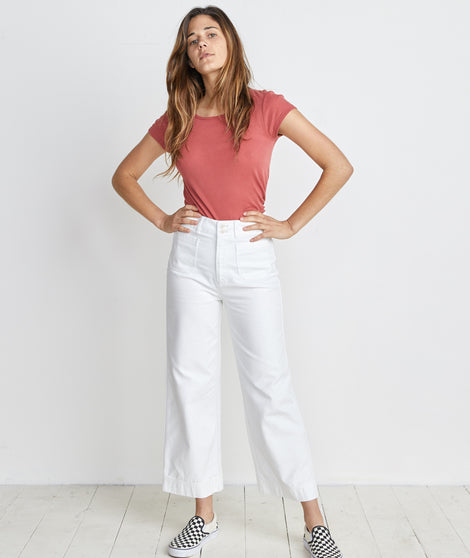 Bridget Wide Leg Pant in Natural