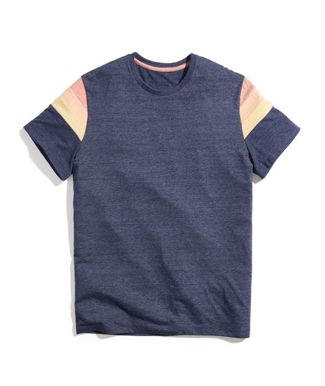 Banks Tee in Navy Heather