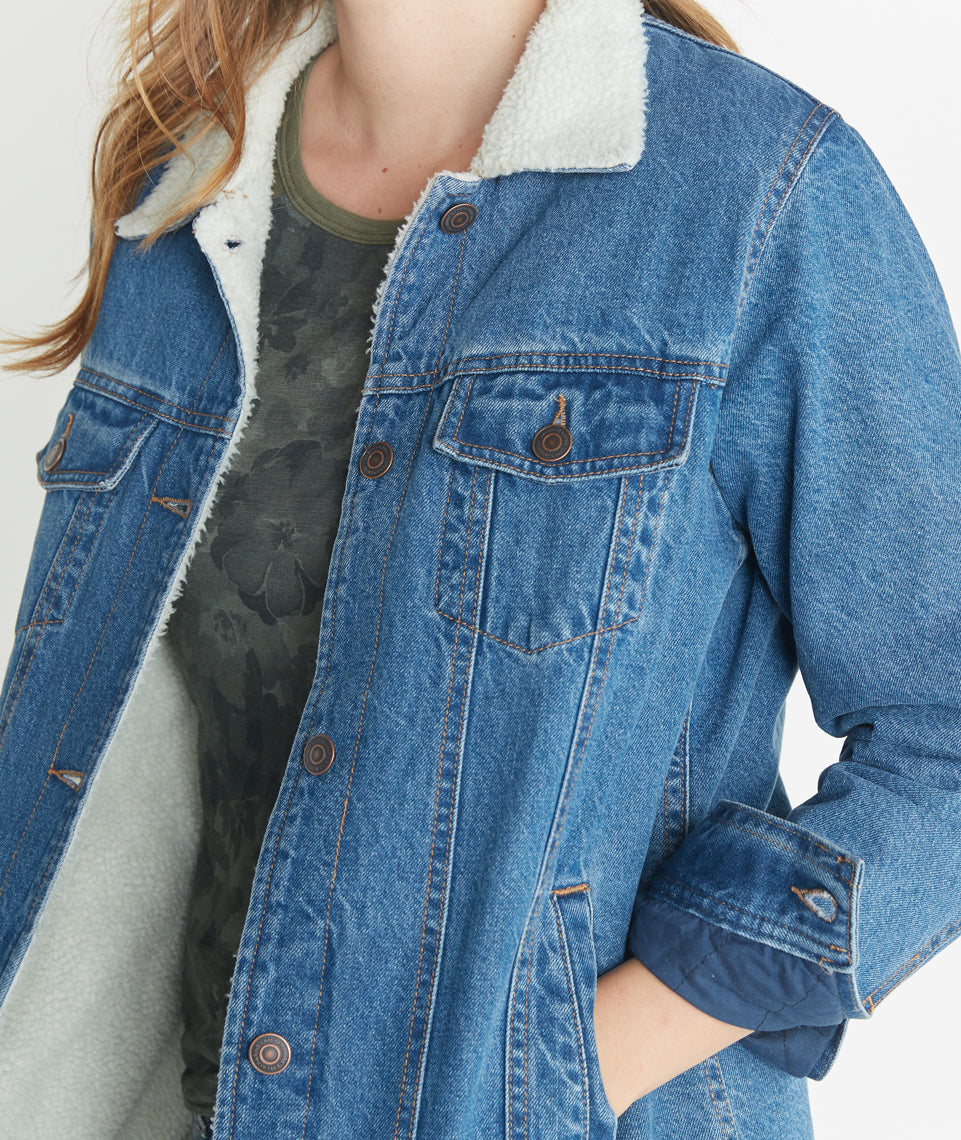 River Denim Sherpa Jacket