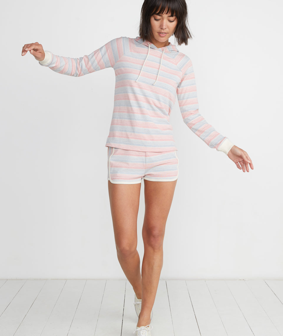 Beach Hoodie in Multi Stripe