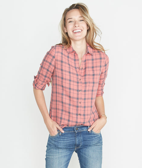 Becca Plaid Button Down
