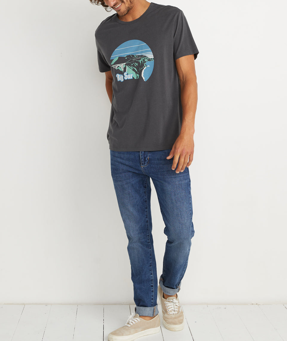 Big Sur Tee in Faded Black