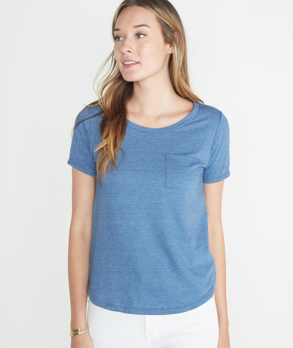 Boyfriend Pocket Tee in True Denim