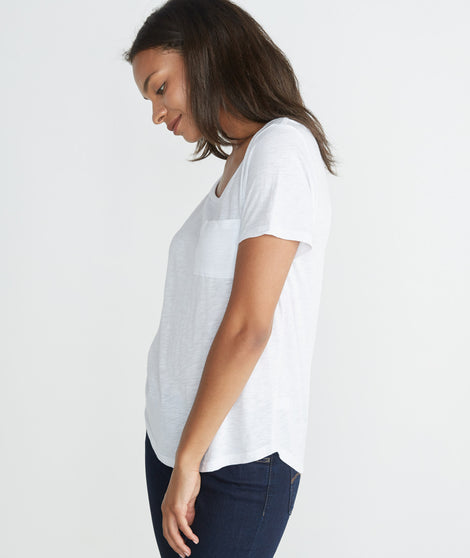 Boyfriend Pocket Tee - White