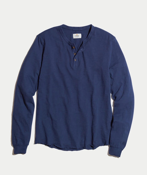 Lightweight Henley in Navy