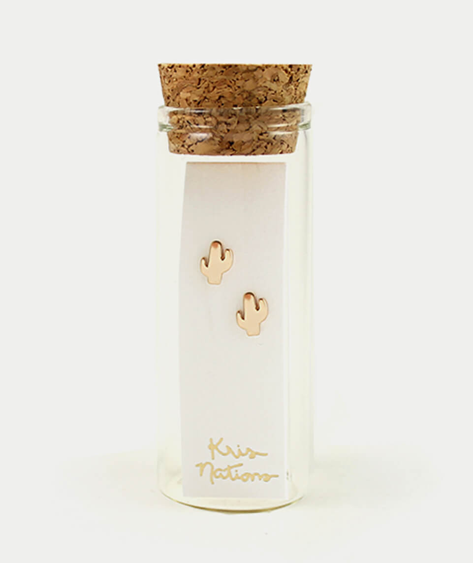 Kris Nations Cactus Stud Earrings
