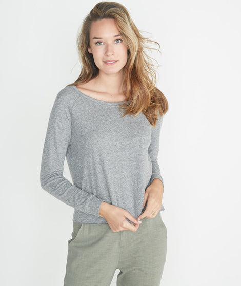 Callie Raglan in Heather Grey