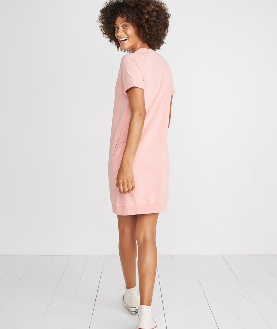 286c68ed05bc Cassidy Sweatshirt Dress in Vintage Peach – Marine Layer