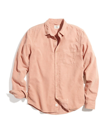 Classic Fit Lightweight Cord Shirt in Terra Cotta