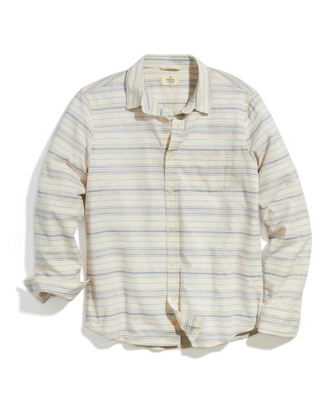 Classic Fit Lightweight Cotton Shirt in Natural Pop Stripe