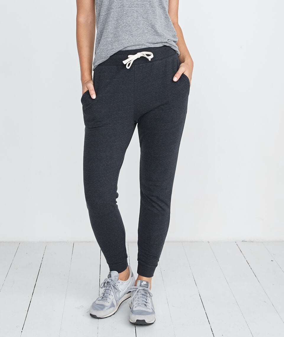 Double Knit Jogger in Faded Black