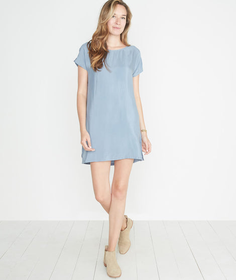 Delta Dress in Faded Sky Blue
