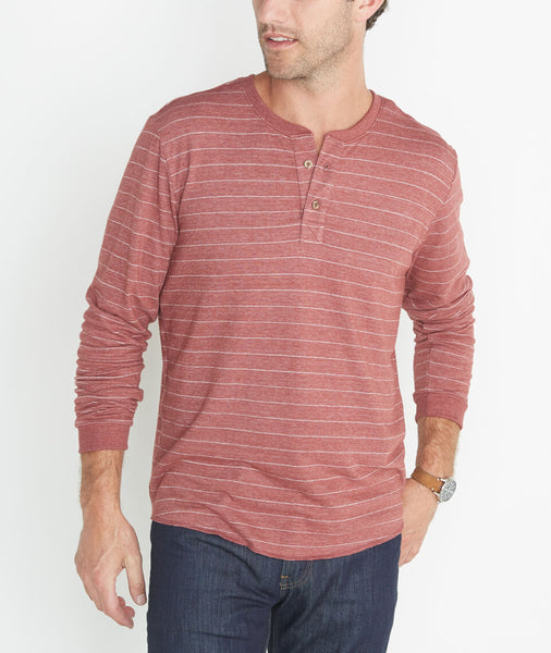 Double Knit Henley in Syrah Stripe – Marine Layer