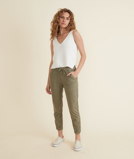 Emmy Utility Pant in Faded Olive