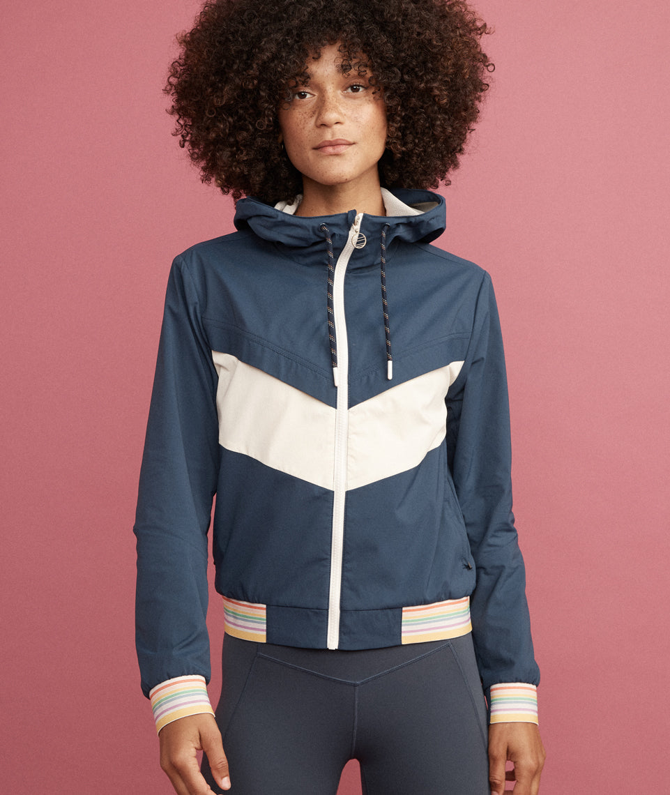 Gabby Windbreaker in Navy