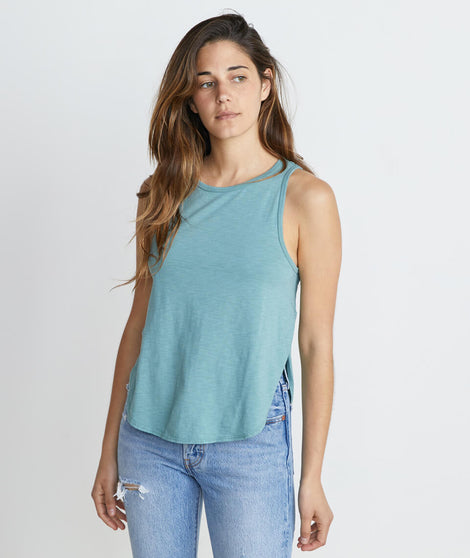 Side Tulip Tank in Surf Green
