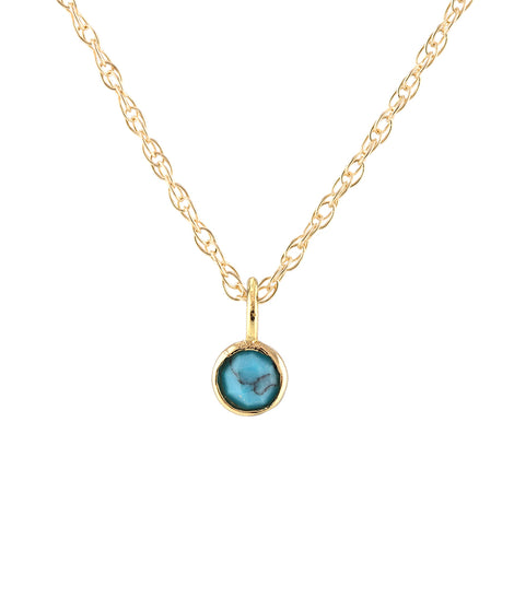 Kris Nations Gemstone Charm Necklace in Gold