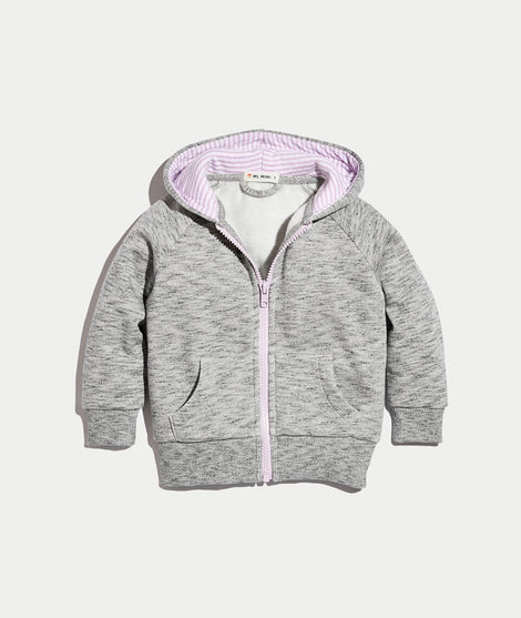 Skylar Zip Hoodie in Heather Grey