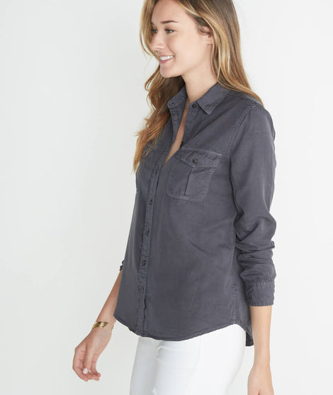 Hadley Button Down in Charcoal