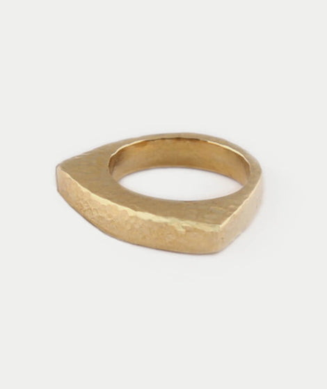 Soko Hammered Mohawk Ring