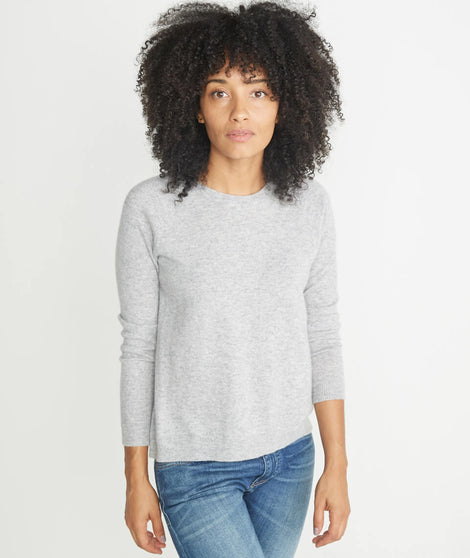 Harlow Cashmere Swing Crewneck Sweater