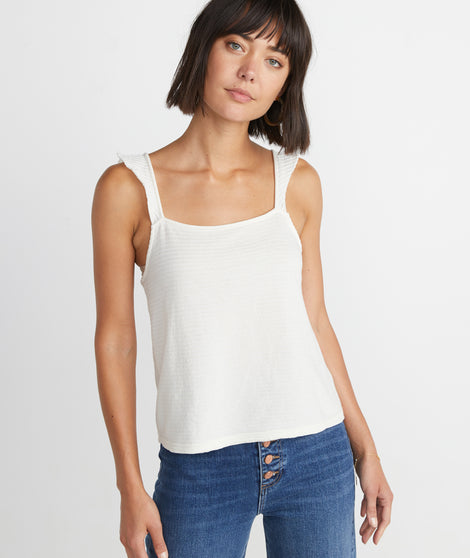 Heidi Tank in Antique White