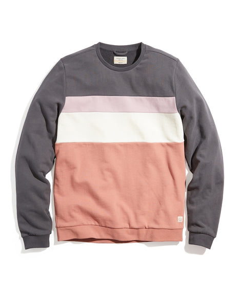 Jordan Crew Sweatshirt in Grey/Terra Cotta Colorblock