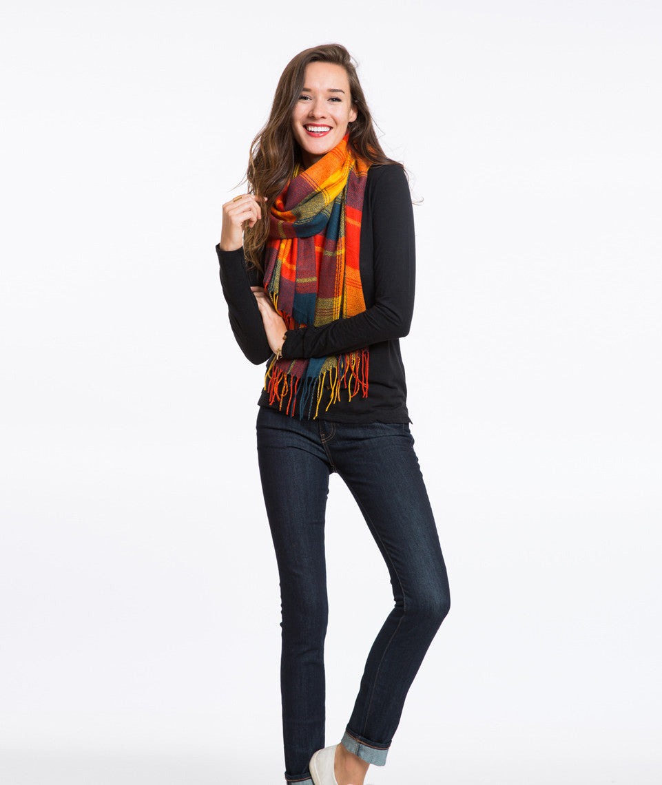Isle Plaid Scarf