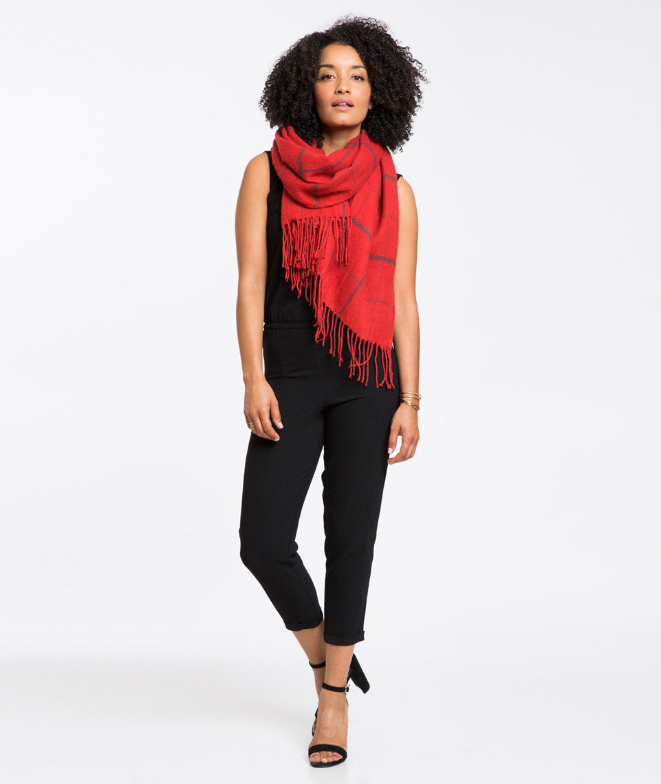 Renee Windowpane Scarf