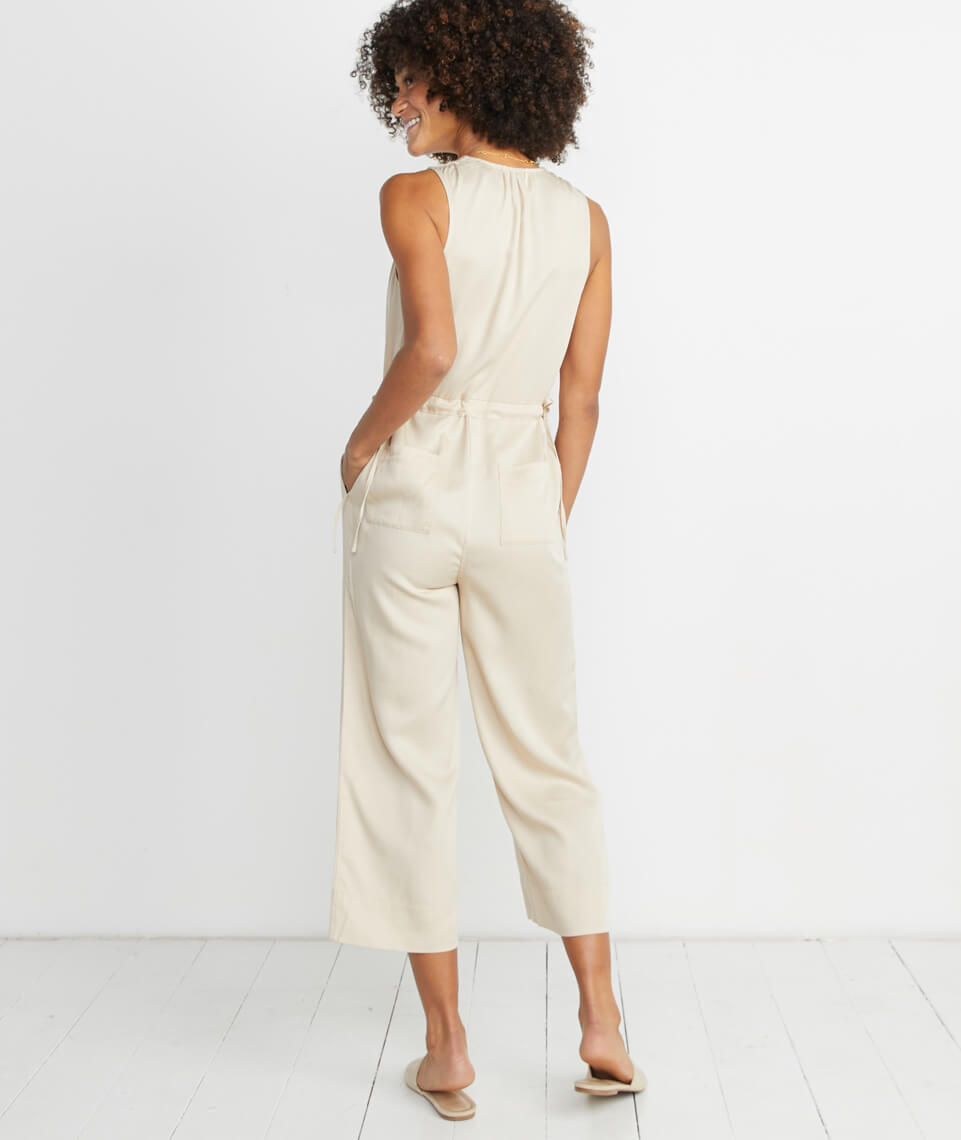 Katy Jumpsuit in Cream Tan