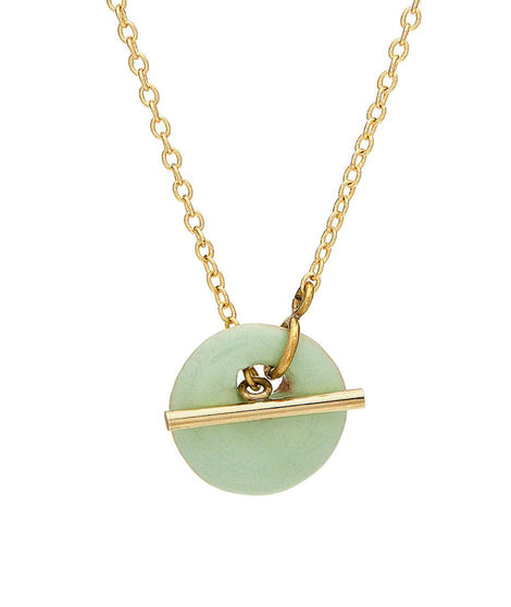 Soko Kazuri Lariat Necklace in Gold/Green