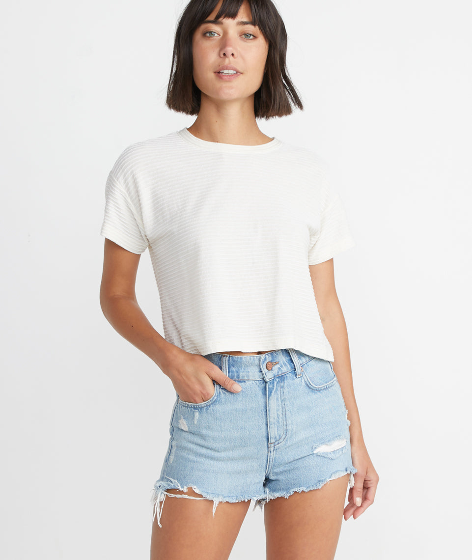 Sasha Denim Short in Medium Wash