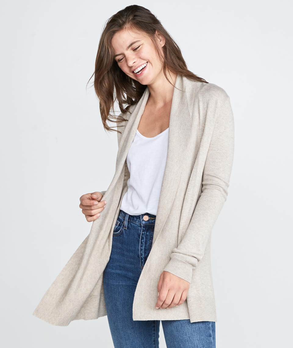 Mae Cardigan in Heather Oat