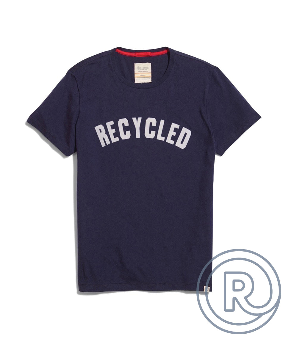 Re-Spun Recycled Tee in Navy