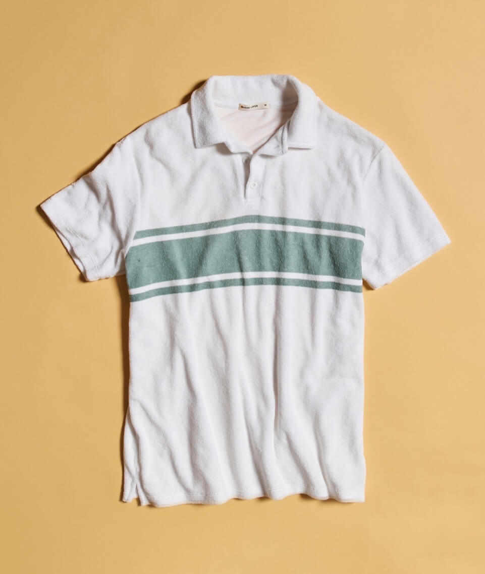 ML x L&F Arcadia Polo in Green/White