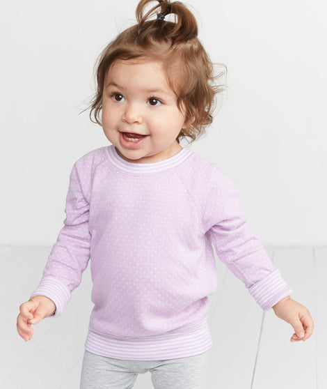 Mini Reversible Raglan in Smoky Grape