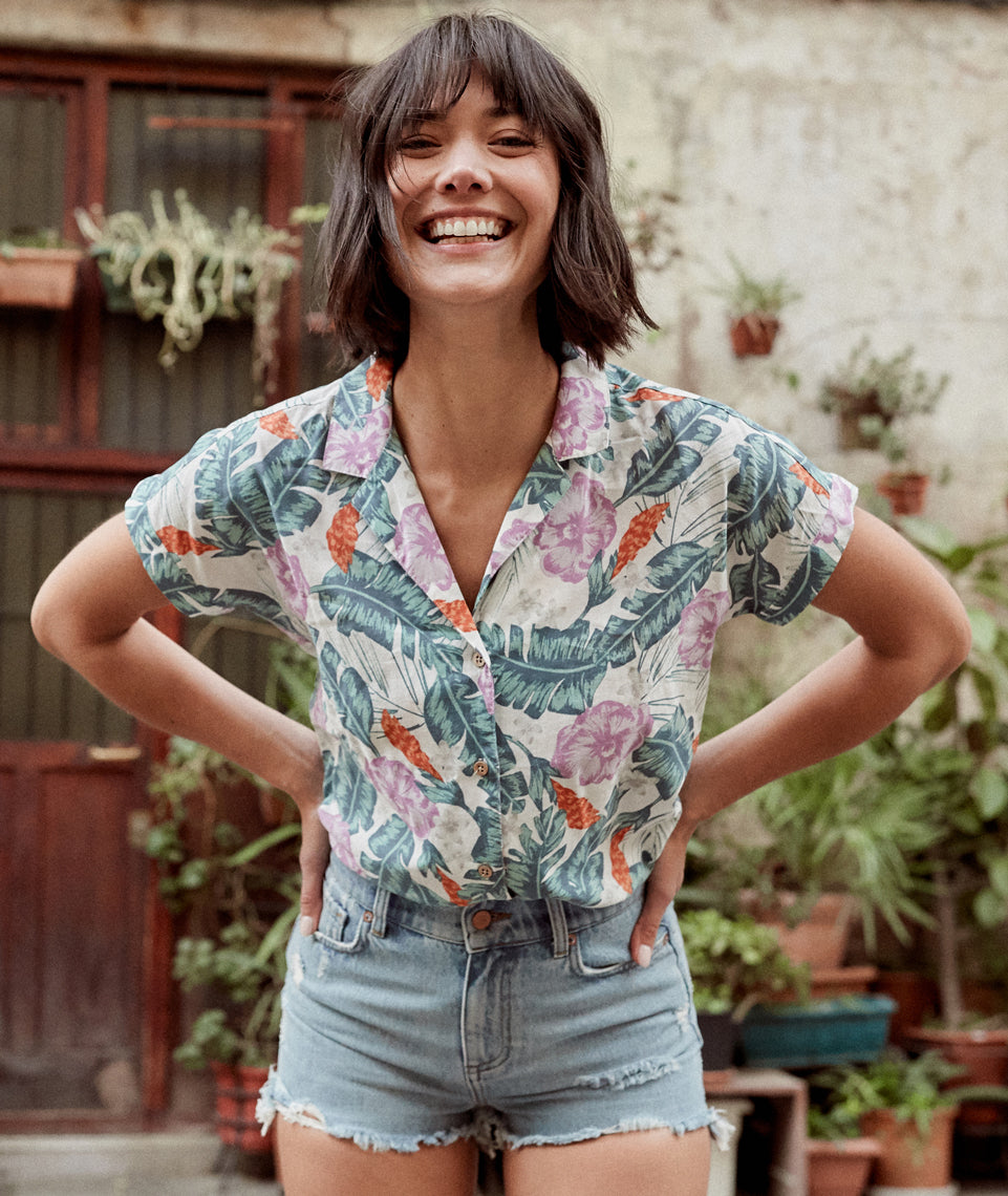 Venice Button Down in Multi Floral