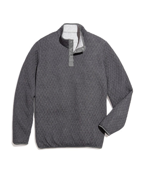 Men's Reversible Corbet Pullover in Heather Grey/Charcoal